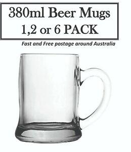 Glass Beer Mug / Tankards / Beer Glass 380ml