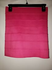 Women's Tracy Evans Pink Estilio Stretch Mini Skirt Size Small