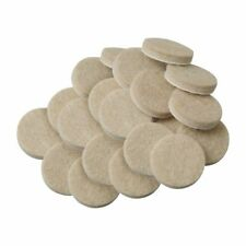 20pcs Self-Stick 3/4 inch Furniture Felt Pads for Hard - Oatmeal, Round M8P2