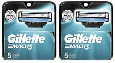 Gillette Mach3 Razor Blade Refill Cartridges 10ct (2x5count) Authentic & Sealed