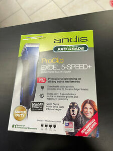 NEW! ANDIS ProClip Excel 5-Speed+ detachable blade dog clipper SMC #65325
