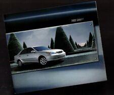 2002 Toyota CAMRY Brochure / Catalog (incl.) Color Chart: LE,SE,XLE