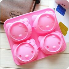 silicone cake mold Hello Kitty shaped jelly pudding sugarcraft cake mold mould