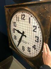 "URBAN SANTA FE 26"" FORGED AGED METAL WALL CLOCK WAREHOUSE INDUSTRIAL STYLE"