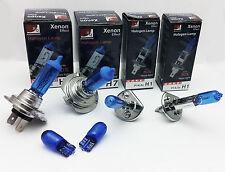 XENON 55W 12V HI-Lo beam Bulbs H7 H1 plus W5W super white HEADLIGHT SET C