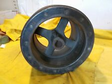 BIG FLAT BELT PULLEY line shaft machinery steam engine machine shop ROCKWOOD USA