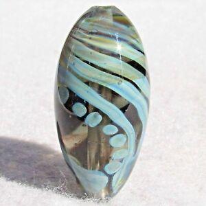 SOLVEIG Handmade Art Glass Focal Bead Flaming Fools Lampwork Art Glass SRA
