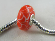 SINGLE SILVER CORE MURANO GLASS BEAD FOR EUROPEAN STYLE CHARM BRACELET (MSB 464)