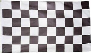 "CHECKERED FLAG 3x5FT 36"" X 60"" NASCAR RACING BLACK WHITE FREE SHIPPING GARAGE"