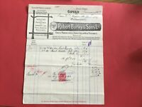 Robert Burley and Sons Handle Mfr Home & Foreign Wood 1907 Govan  receipt R33190