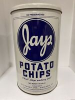Vintage Jays Metal Potato Chip Can - 1986 Limited Edition 1 lb Tin