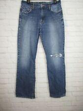 Lucky Brand men's size 31/31 Straight Leg Distressed Denim Jeans Medium Wash