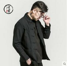 Mens Coats Chinese Style Cotton Linen Jackets Buttoned Vintage Tops Ske15