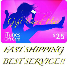 Apple $25 iTunes US Gift Card Code Key Voucher Certificate USA Dollar SUPER FAST