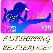 Apple $25 iTunes US Gift Card Code Key Voucher Certificate USA Dollar SUPER FAST