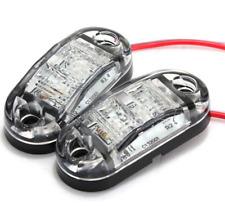 LED 12V  White Side Marker Clearance Light Lamp Car Truck Trailer Caravan