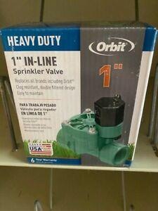 "Orbit 57281 1-Inch FPT Heavy-Duty In-line Sprinkler Valve 1"" Connection (NEW)"