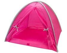 Tent  Hot Pink - Silver Camping Fits 18 in American Girl Doll Clothes Accessory