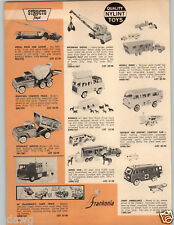 1964 PAPER AD Structo Toy Truck Nylint Mobile Home RV Holiday Inn Bus Concrete