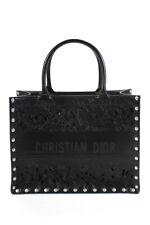 Christian Dior 2021 pista tachonado de Cuero Negro Estructurado bolso bolso de mano