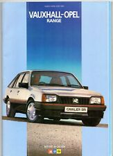 Vauxhall Opel March-May 1985 UK Brochure Nova Astra Cavalier Manta Carlton Monza