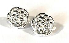 Karine Sultan Sterling Silver Circular Clip on Earrings