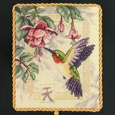 Dimensions Gold Nuggets EXQUISITE HUMMINGBIRD Counted Cross Stitch Kit #35059
