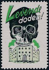 Stamp Replica Label Germany 0228 WWII Netherland Hitler Skull Levende Doden MNH