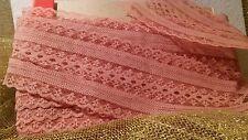 Vintage LACE.  Pink Color Lace Trim  240 inches x 3  wide