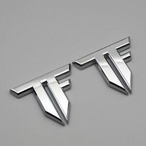 2x Silver Metal Transformers Side Emblem Chrome Rear Tailgate Trunk 3D Badge