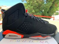 New 2019 Nike Air Jordan VI Retro OG Black INFRARED 384665-060 Boy Youth Shoes 6