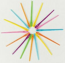 """4 Plastic Lacing Needles 2 1/4"""" long Colorful Safe"""