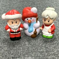 3x Fisher Price Little People Christmas Nativity Santa Claus Snowman MRS. CLAUS