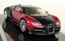 Autoart 1/43 Scale - 50901 Bugatti EB 16.4 Veyron Black Red Diecast Model Car