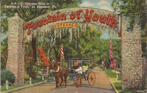 St. Augustine, FLORIDA - Fountain of Youth Entrance - 1954 - ROADSIDE ATTRACTION