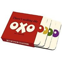 OXO logo set of four cork backed drinks coasters (hb) REDUCED TO CLEAR-------