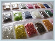 4000 +PIECE SEED BEAD BULK PACKS~ 12 MIXED BAGS (NEW,SEALED) Plus FREE GIFT