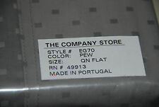 New The Company Store 340TC Supima Cotton Queen Flat Sheet Fabric Pewter