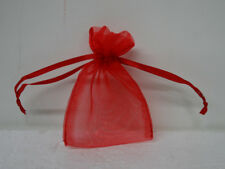 Organza Gift Bag Jewelry Pouch Wedding Favor Red Small Size 100 count