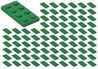 ☀️100x NEW LEGO 2x4 GREEN Plates (ID 3020) BULK Parts City Building GREEN
