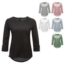 Vero Moda Damen Langarmshirt T-Shirt Shirt O-Neck Basic Color Mix NEU