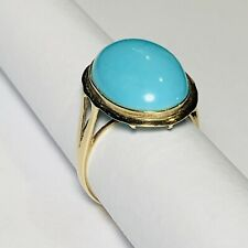 Beautiful Robins Egg Turquoise 14 Karat Gold Ring Size 6 3/4