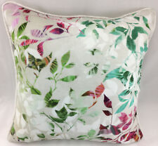 Print of Multi Colour Leaves on Linen Mix Fabric Evans Lichfield Cushion Cover