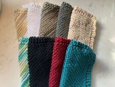 Hand-knit Grandmother's Dish Cloths-New-100% Cotton-Handmade-Discount w/multiple