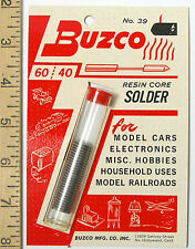 1 BUZCO 60/40 RESIN CORE SOLDER 1/24 Slot Car Frame Chassis Scratch Builder USA!