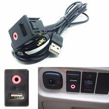 1P 3.5mm Car AUX+USB Switch Vehicle Modified Socket Aux Socket Audio Accessories