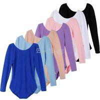 US Girls Gymnastics Leotard Dress Ballet Dance Tutu Skirt Kids Dancewear Costume