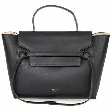 Céline Belt Bag | Black Grained Leather | Authentic | Medium