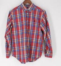 Ralph Lauren boys summer plaid l/s shirt red blue green  euc