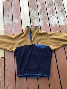 Patagonia Men's Lightweight Snap T- Medium - Blue/Orange